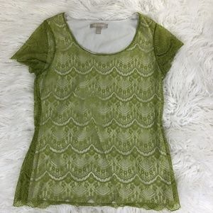 Banana Republic Women's Small Green Blouse